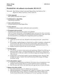 Protokoll fört vid ordinarie styrelsemöte 2011-01-23