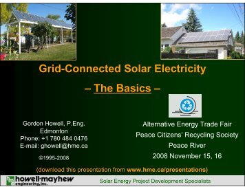 Grid-Connected Solar Electricity - Howell-Mayhew Engineering
