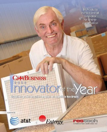 INNOVATORS Gold Award - New Orleans City Business