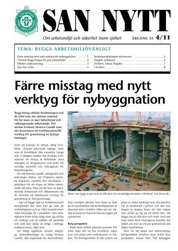 Färre misstag med nytt verktyg för nybyggnation - SAN - Sjöfartens ...