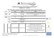 Detailed program plan of the European Civil Meeting 2011 ...