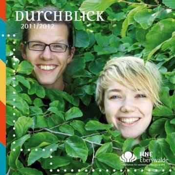 Durchblick - Hochschule für nachhaltige Entwicklung Eberswalde