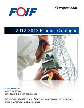 2012-2013 Product Catalogue
