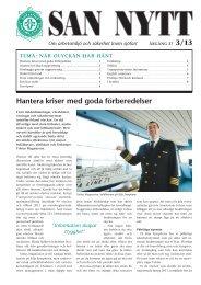 Hantera kriser med goda förberedelser - SAN - Sjöfartens ...