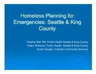 Homeless Planning for Emergencies - WSU Conference Management
