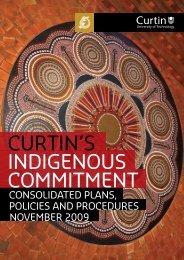 Curtin's Indigenous commitment - Curtin Policies and Procedures