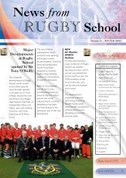 News From Rugby School - Winter 02 | PDF (858KB