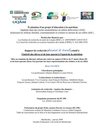 Item 11b - Centre de recherche sur l'intervention éducative (CRIE)