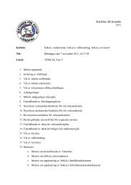 Kallelse till SeKeLs årsmöte 7 november, 2011