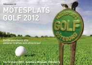 MÖTESPLATS GOLF 2012 - Swedish Greenkeepers Association