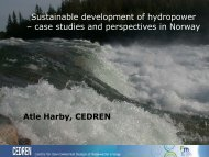Sustainable development of hydropower – case studies and ...