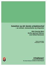 Arbejdspapir Somaliere og det danske arbejdsmarked - SFI