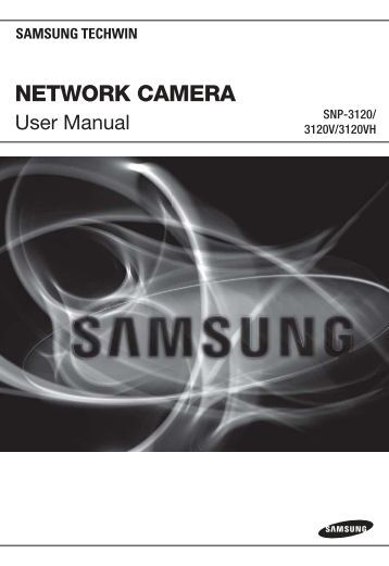 Samsung iPOLiS SNP-3120 User Manual - Use-IP