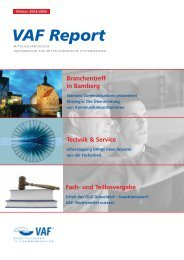 VAF Report - VAF - Bundesverband Telekommunikation eV