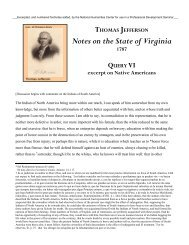 Thomas Jefferson, selection from - National Humanities Center