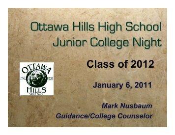 Junior College Night 11 - Ottawa Hills School District