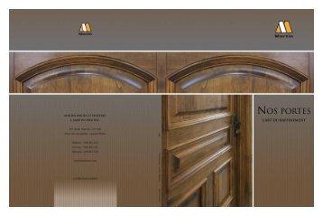 Nos portes de bois - Martin portes et fenêtres
