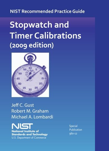 Stopwatch and Timer Calibrations - National Institute of Standards ...