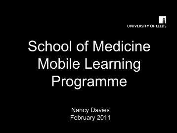 School of Medicine Mobile Learning Programme - LondonLinks