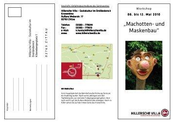 """""""Machotten- und Maskenbau"""" - Hillersche Villa"""
