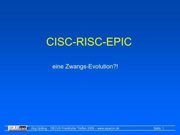 CISC-RISC-EPIC