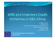 Workshop on Warehouse Receipt Systems and