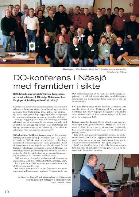 DO-konferens i Nässjö med framtiden i sikte - Golf.se