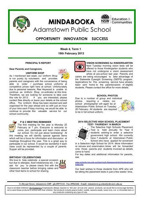 19 19th February 2013 Week 08 [pdf, 731 KB] - Adamstown