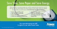 Save Time, Save Paper and Save Energy. - Atmos Energy