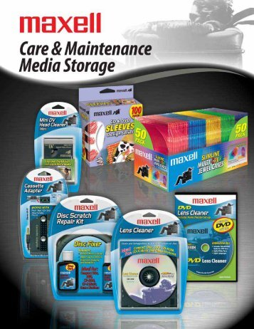 Care & Maintenance - Maxell Canada
