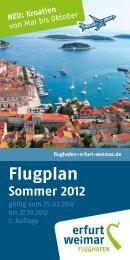 Flugplan - Flughafen Erfurt