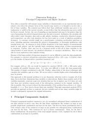 Dimension Reduction Principal Components and Biplot Analyses 1 ...