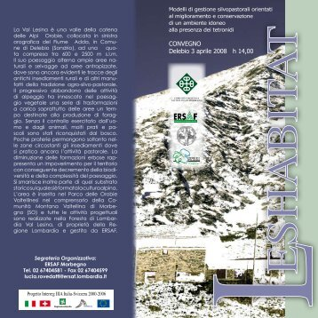 3 Aprile, Delebio: Lo spazio alpino - Ruralpini