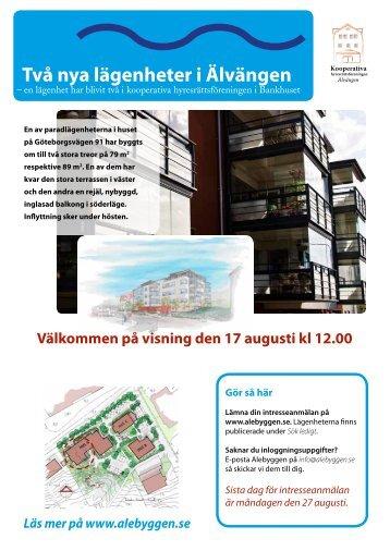Två nya lägenheter i Älvängen - Alebyggen