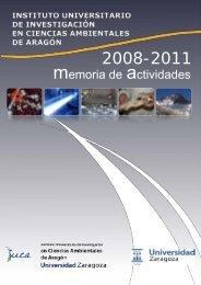 memoria de actividades 2008-2011 - IUCA - Universidad de Zaragoza