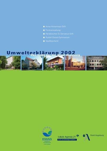 Umwelterklärung 2002 - Umweltmanagement Augsburg - Stadt ...