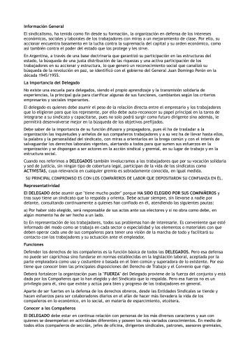 Información General El sindicalismo, ha tenido como fin ... - ALEARA