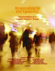 Responding to the Epidemic - Canadian AIDS Society