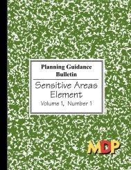 Planning Guidance Bulletin: Sensitive Areas Element - Maryland ...
