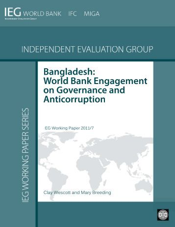 Bangladesh - Independent Evaluation Group - World Bank