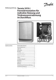 Fernwärmestation für indirekte Heizung und Trinkwassererwärmung ...
