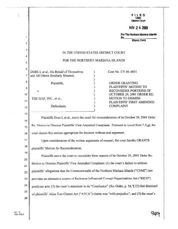 1:01-cv-00031 - District Court for the Northern Mariana Islands