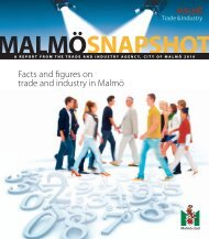 Facts and figures on trade and industry in Malmö - Malmobusiness ...