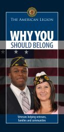 Why You Should Belong Brochure - The American Legion of Iowa