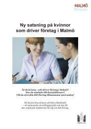 Ny satsning på kvinnor som driver företag i Malmö - Malmobusiness ...