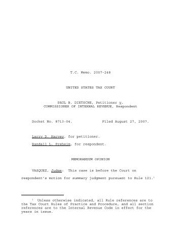 TC Memo. 2007-248 - U.S. Tax Court