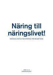 NäriNgslivspolitisk strategi för MalMö stad - Malmobusiness.com
