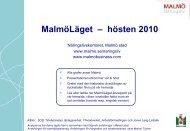 MalmöLäget – hösten 2010 - Malmobusiness.com