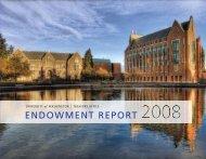 endowment report - Finance & Facilities - University of Washington