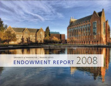 endowment report - Finance & Facilities - University of Washington